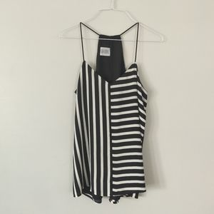 3/$20 - Express Striped Black and White Tank